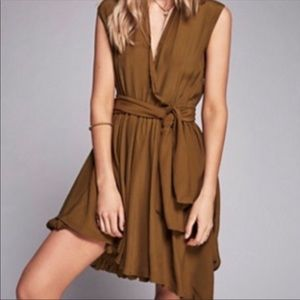 MLM Label/ Free People Olive Baloon Wrap Dress